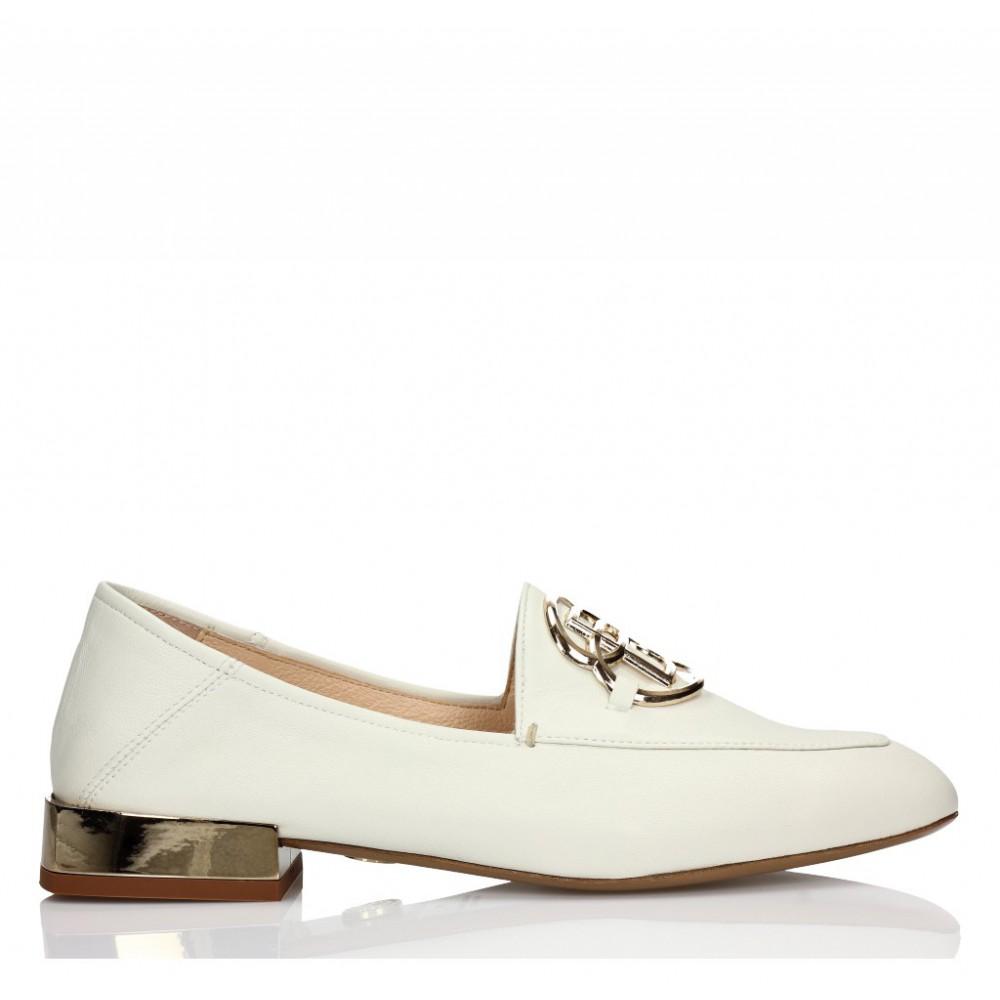 1947c90d538756 Buty płaskie w kolorze ecru • BALDOWSKI oficjalna strona