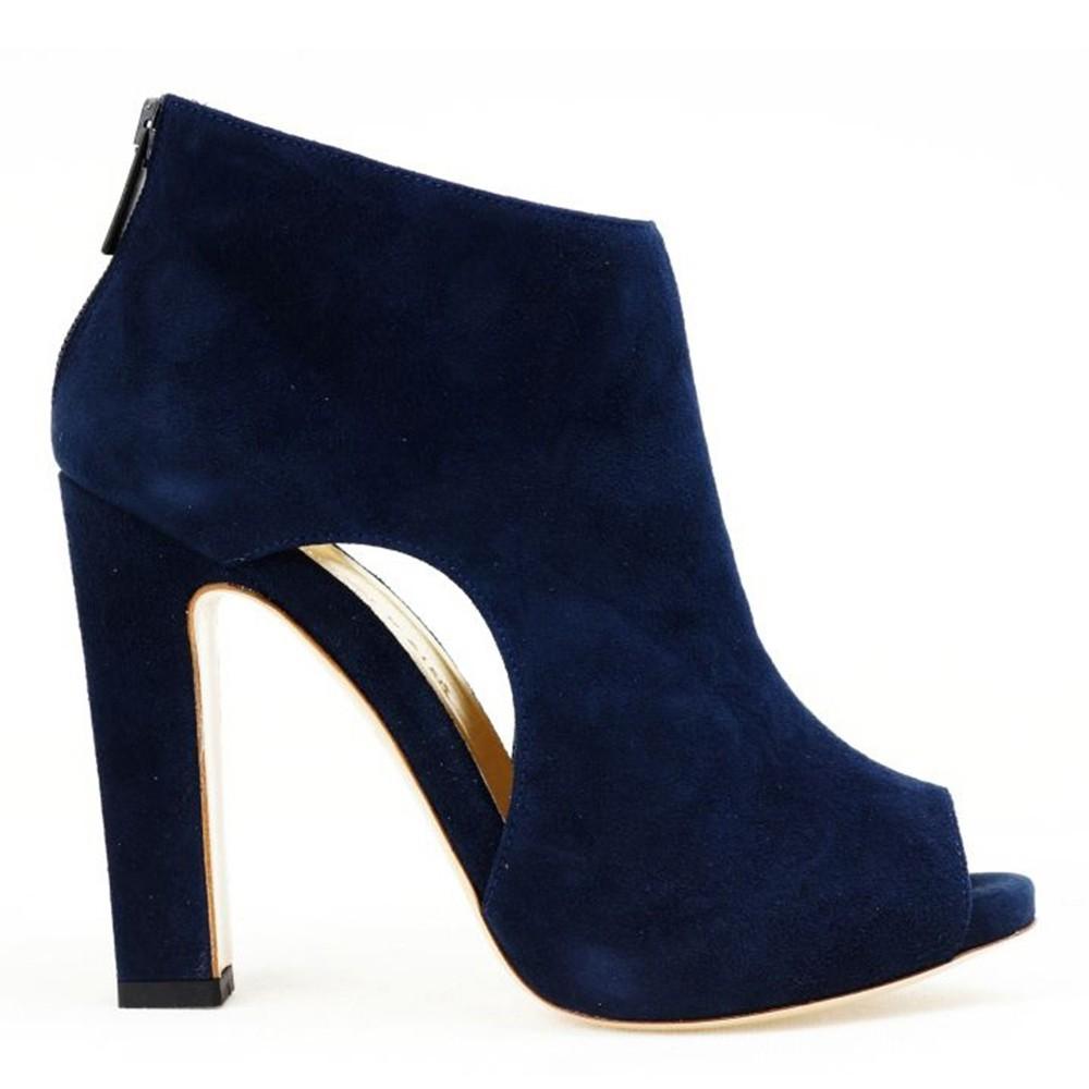 966e32a8f472a Navy blue ankle boots • BALDOWSKI official website