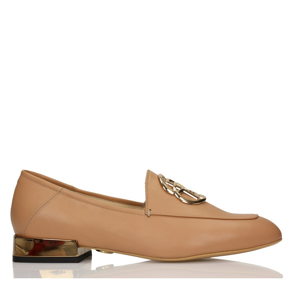 5a13ae3ea Flat shoes in nude colour • BALDOWSKI official website