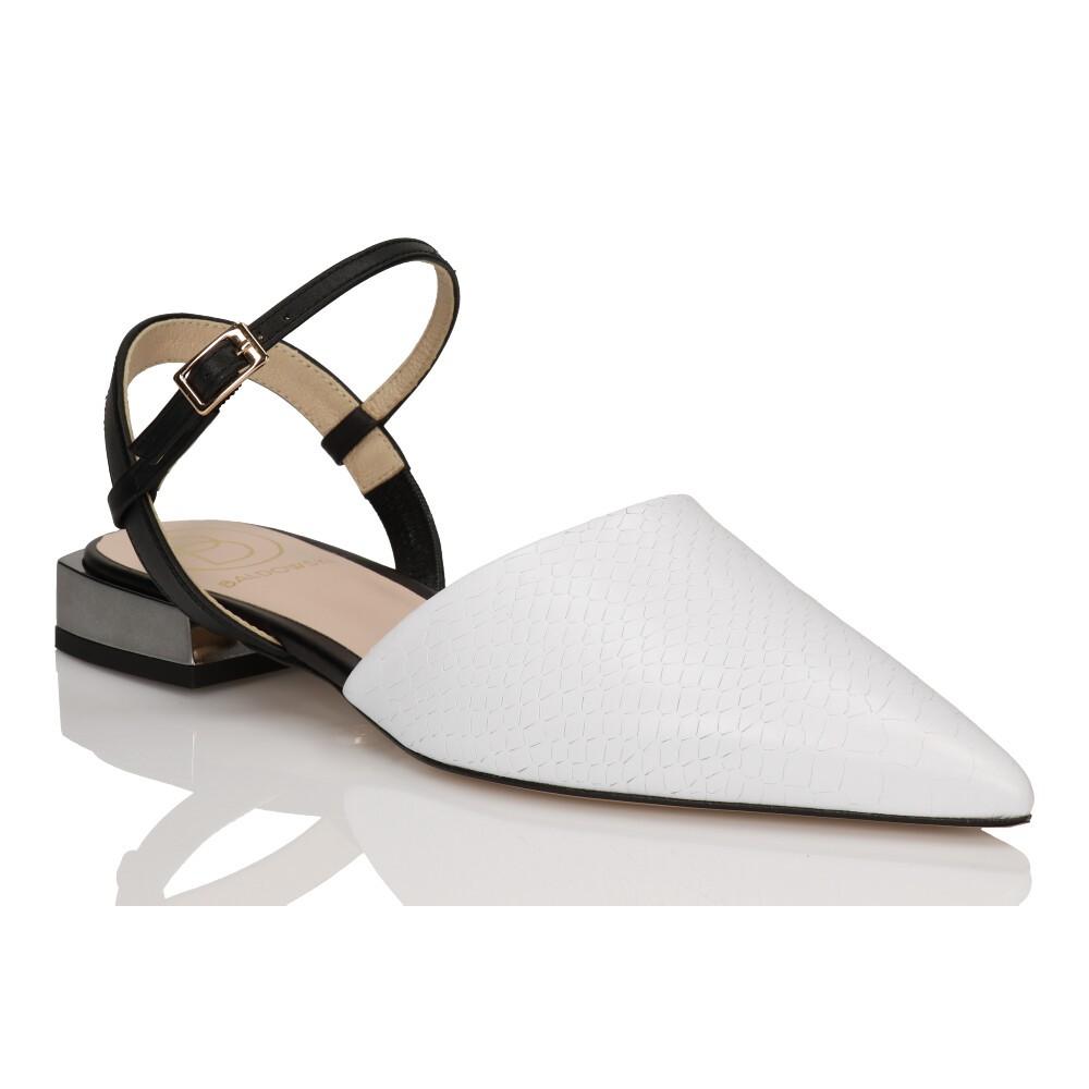 3efc49415fa118 Buty płaskie białe • BALDOWSKI oficjalna strona